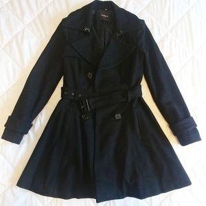 Bebe Black Slim Fit Winter Jacket Coat Size XS